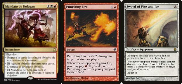 コラガンの命令、罰する火、火と氷の剣