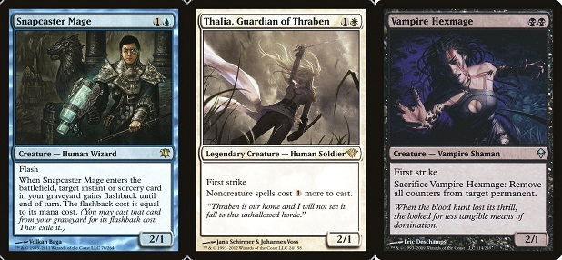 snapcaster-mage-Vampire Hexmage-Thalia, Guardian of Thraben